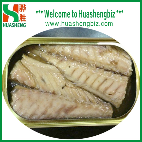 canned mackerel fillet in oil